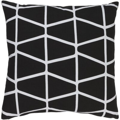 Canning 100% Cotton Throw Pillow Cover Size: 18 H x 18 W x 1 D, Color: BlackNeutral