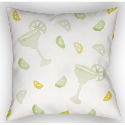 Tisha Margarita Indoor/Outdoor Throw Pillow Size: 18 H x 18 W x 4 D