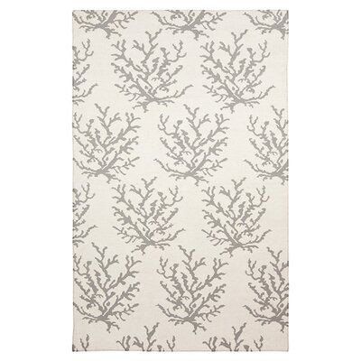Byard Light Gray & White Area Rug Rug Size: Rectangle 5 x 8