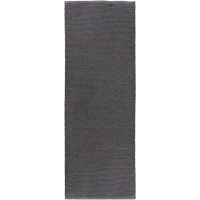 """Reef Hand-Woven Black Area Rug Rug size: Runner 2'6"""" x 8' REE2001-268"""