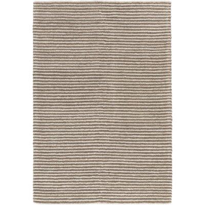 Felix Hand-Woven Dark Brown/Medium Gray Area Rug Rug size: 6' x 9'