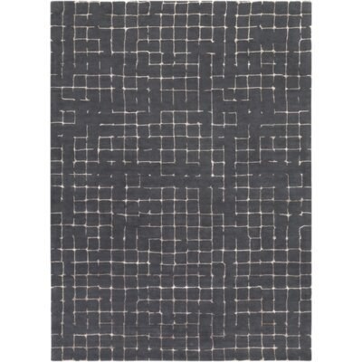 Byers Dark Brown Area Rug Rug Size: 5 x 8