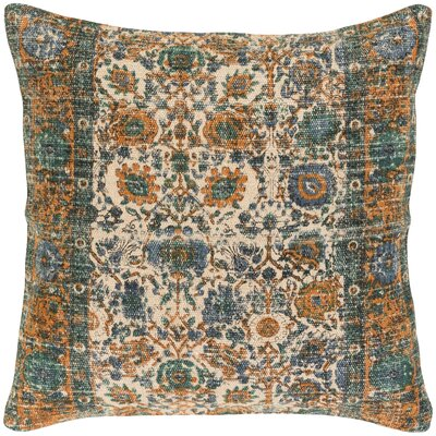 Arch Hill Throw Pillow Size: 20 H x 20 W x 4 D, Color: Blue, Fill Material: Polyester