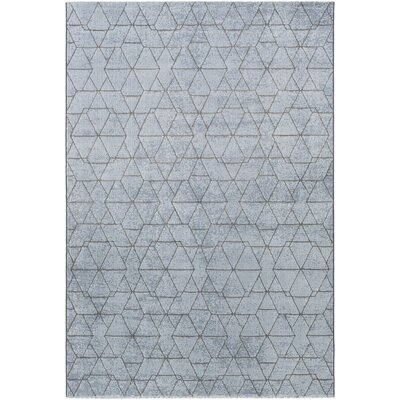 Cuthbert Modern Pale Blue/Denim Area Rug Rug Size: Rectangle 92 x 129