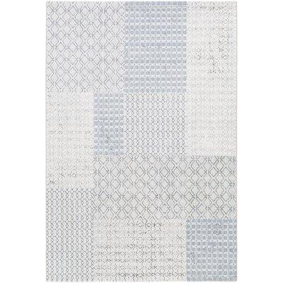 Clearman Modern White/Light Gray Area Rug Rug Size: Runner 27 x 71
