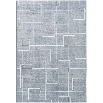 Chacon Modern Pale Blue/Denim Area Rug Rug Size: Runner 27 x 71