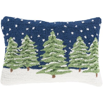 Evergreens Winter Pillow Cover Fill Type: Polyester
