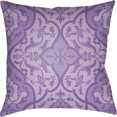 Libchava Floral Throw Pillow Color: Purple, Size: 22