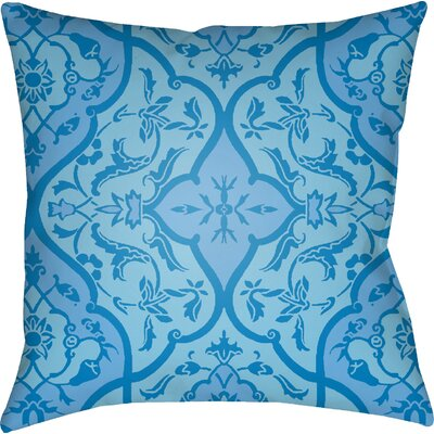 Libchava Floral Throw Pillow Size: 18 H x 18 W x 4 D, Color: Blue