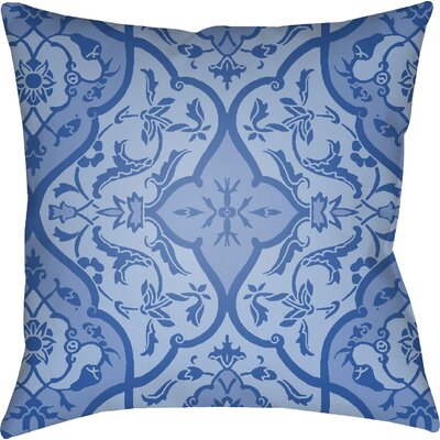 Libchava Floral Throw Pillow Size: 20 H x 20 W x 4 D, Color: Indigo