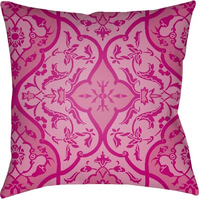 Libchava Floral Throw Pillow Size: 20 H x 20 W x 4 D, Color: Magenta