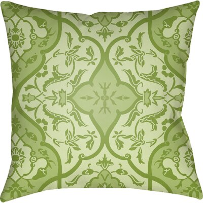 Libchava Floral Throw Pillow Color: Green, Size: 20