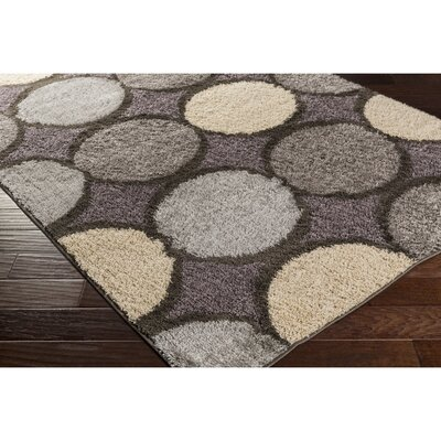 Beal Gray Area Rug Rug Size: Rectangle 53 x 76