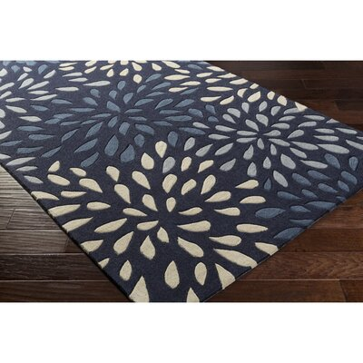 Carrie Hand-Tufted Navy Area Rug Rug Size: Rectangle 2 x 3