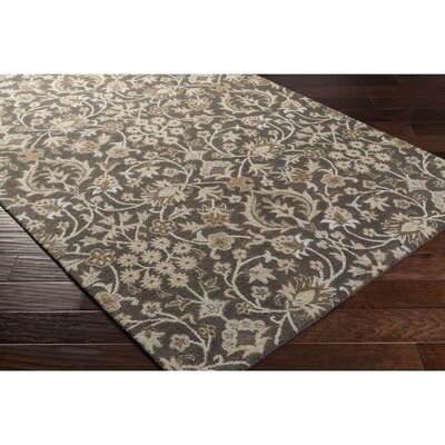 Pottershill Black/Light Gray Area Rug Rug Size: Rectangle 6 x 9