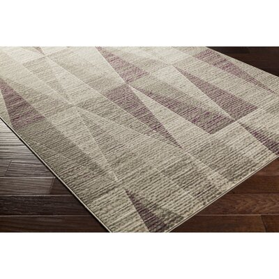 Langley Street Lundgren Light Gray/Eggplant Area Rug
