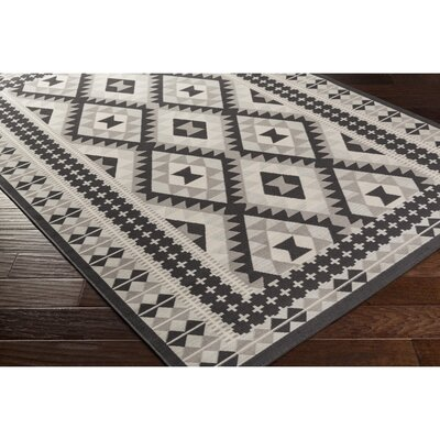 Baade Gray/Black Area Rug Rug Size: Rectangle 28 x 5
