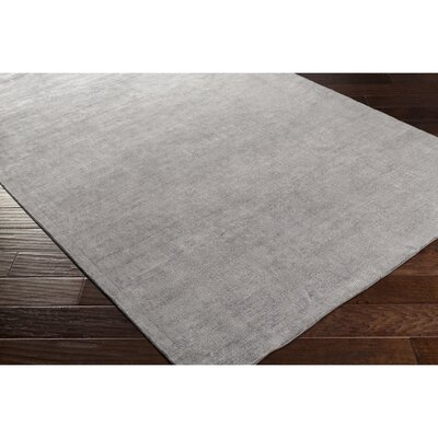 Calhoun Hand-Loomed Gray Area Rug Rug Size: Rectangle 5 x 76