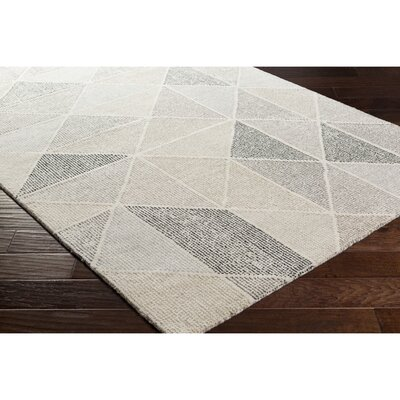 Madero Hand-Tufted Charcoal/Ivory Area Rug Rug Size: Rectangle 4 x 6