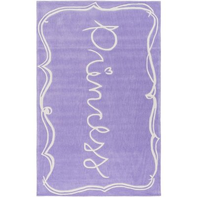 Cesar Hand-Tufted Purple/Neutral Area Rug