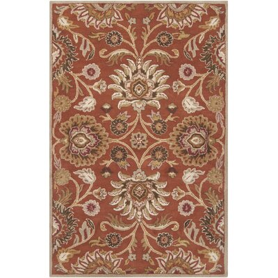 Ferrer Hand-Tufted Rust Area Rug Rug Size: Rectangle 9 x 12