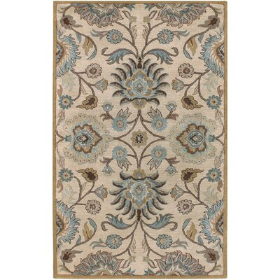 Ferrer Hand-Tufted Ivory Area Rug Rug Size: Rectangle 5 x 79