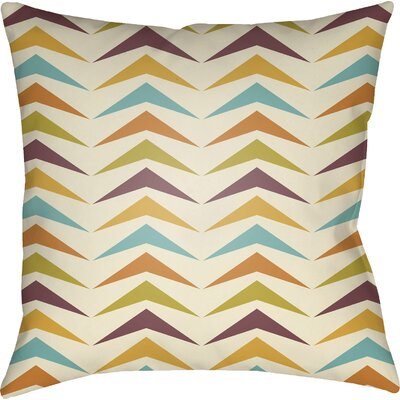 Wakefield Contemporary Square Throw Pillow Size: 18 H x 18 W x 4 D, Color: Orange/Yellow/Purple
