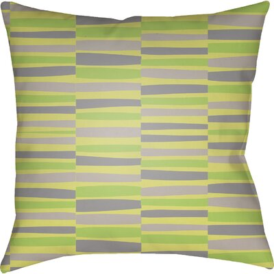 Colinda Striped Square Throw Pillow Size: 18 H x 18 W x 4 D, Color: Green