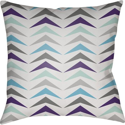 Wakefield Contemporary Square Throw Pillow Color: Blue/Purple/Grey, Size: 22 H �x 22 W x 5 D