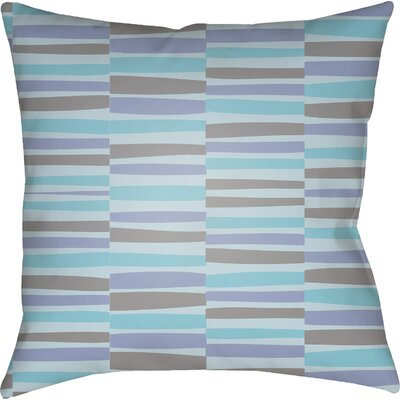 Colinda Striped Square Throw Pillow Size: 18 H x 18 W x 4 D, Color: Blue
