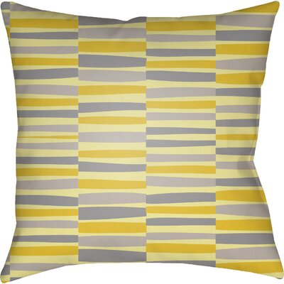 Colinda Striped Square Throw Pillow Size: 20 H x 20 W x 5 D, Color: Yellow