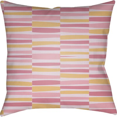 Colinda Striped Square Throw Pillow Size: 18 H x 18 W x 4 D, Color: Pink