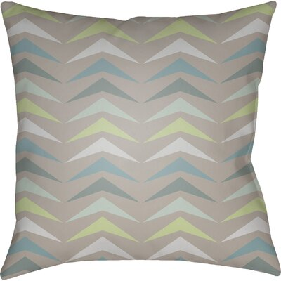 Wakefield Contemporary Square Throw Pillow Color: Teal/Grey/Mint, Size: 22 H �x 22 W x 5 D