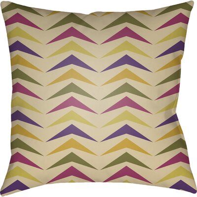 Wakefield Contemporary Square Throw Pillow Color: Purple/Olive/Magenta, Size: 22 H �x 22 W x 5 D