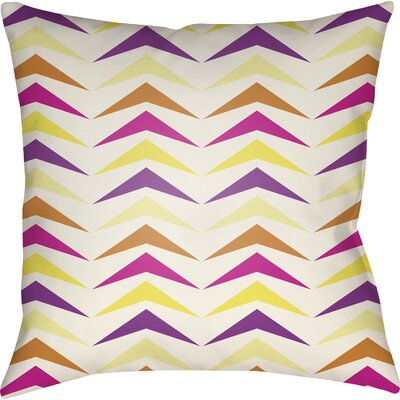 Wakefield Contemporary Square Throw Pillow Color: Magenta/Purple/Orange, Size: 22 H �x 22 W x 5 D