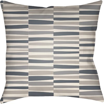 Colinda Striped Square Throw Pillow Size: 20 H x 20 W x 5 D, Color: Grey
