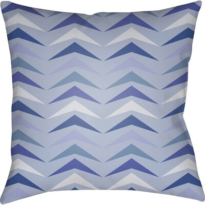 Wakefield Contemporary Square Throw Pillow Size: 20 H x 20 W x 4 D, Color: Blue