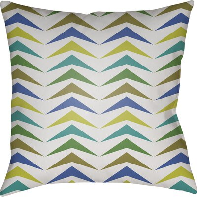 Wakefield Contemporary Square Throw Pillow Size: 18 H x 18 W x 4 D, Color: Olive/Green/Lime