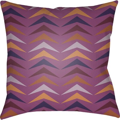 Wakefield Contemporary Square Throw Pillow Size: 18 H x 18 W x 4 D, Color: Pink/Orange/Purple