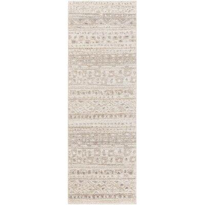Declan Rug in Gray Size: Runner 26 x 8