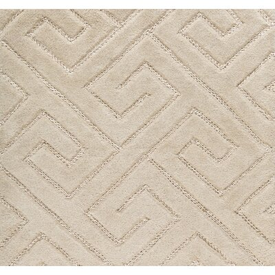 Hereford Geometric Hand-Tufted Beige Area Rug Rug Size: 2 x 3