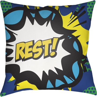 Cassidy Rest Throw Pillow Size: 22 H �x 22 W x 5 D