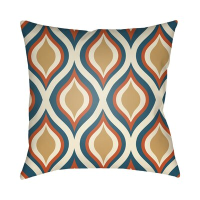 Wakefield Contemporary Throw Pillow Size: 18 H x 18 W x 4 D, Color: Blue