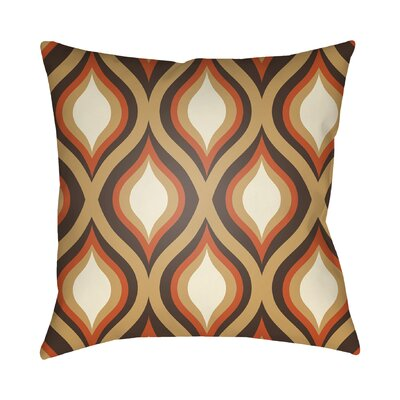 Wakefield Contemporary Throw Pillow Color: Brown, Size: 20 H x 20 W x 4 D