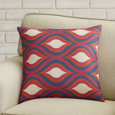 Wakefield Contemporary Throw Pillow Size: 20 H x 20 W x 4 D, Color: Magenta