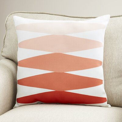 Wakefield Contemporary Indoor Throw Pillow Size: 18 H x 18 W x 4 D, Color: Orange