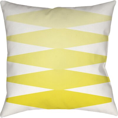 Wakefield Contemporary Indoor Throw Pillow Size: 20 H x 20 W x 4 D, Color: Yellow
