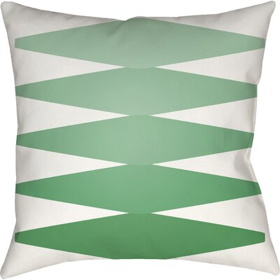 Wakefield Contemporary Indoor Throw Pillow Size: 20 H x 20 W x 4 D, Color: Green