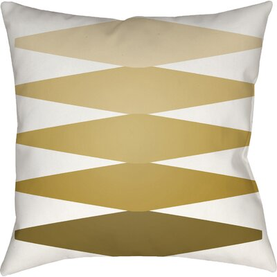 Wakefield Contemporary Indoor Throw Pillow Color: Gold, Size: 22 H �x 22 W x 5 D