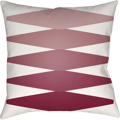Wakefield Contemporary Indoor Throw Pillow Size: 20 H x 20 W x 4 D, Color: Red